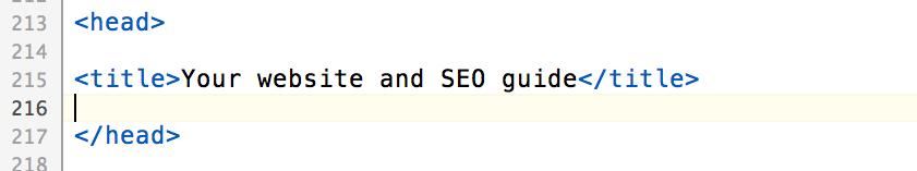 html title inside head tag