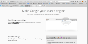 Making Google your default Search Engine
