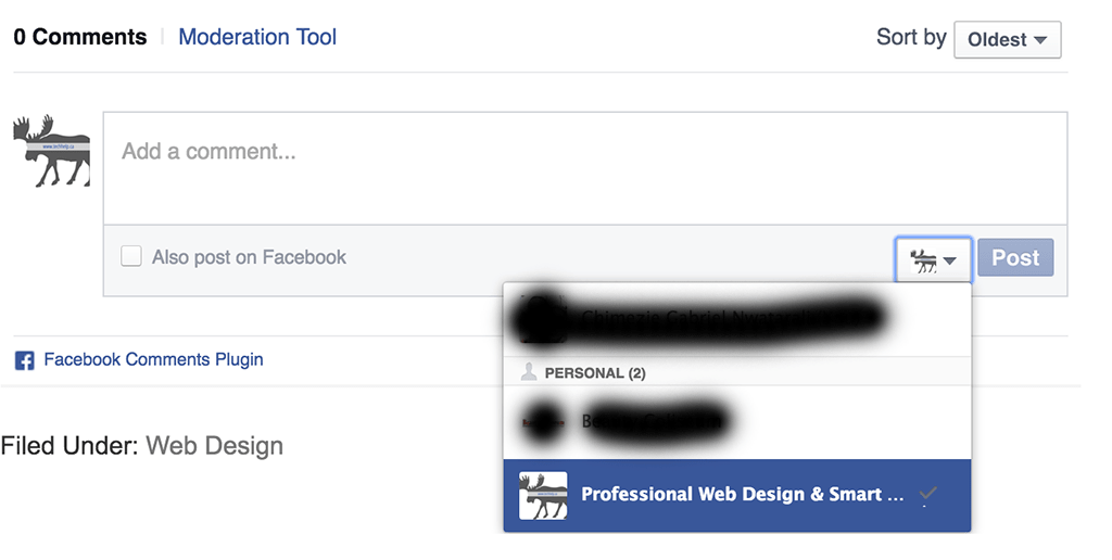 Posting as your business on facebook