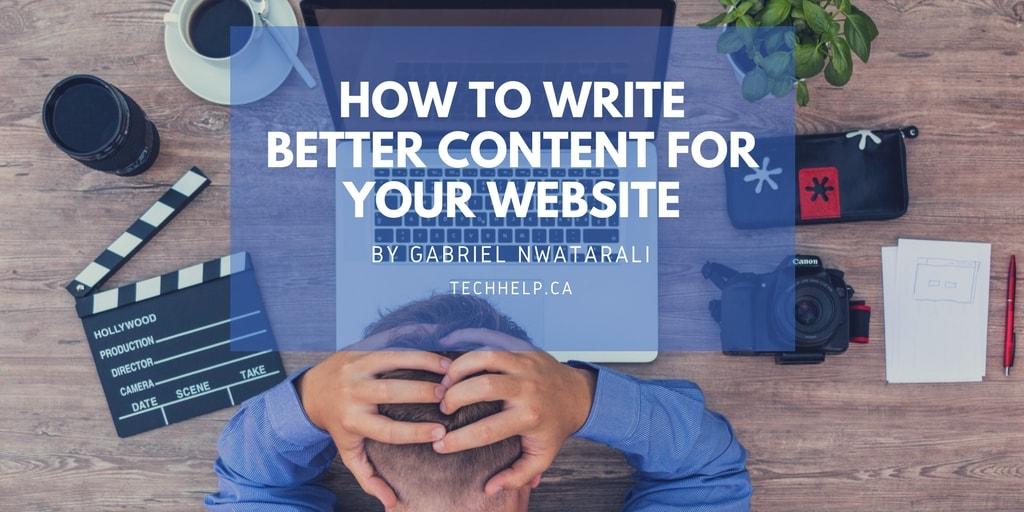 write better website content