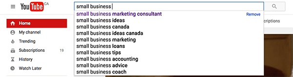 Using YouTube Suggest for keyword research