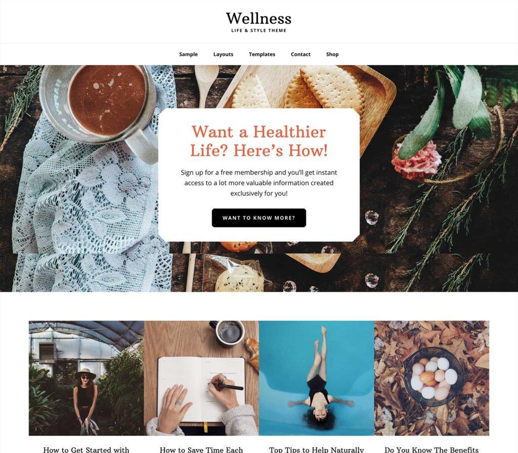 wellness pro WordPress Genesis child theme
