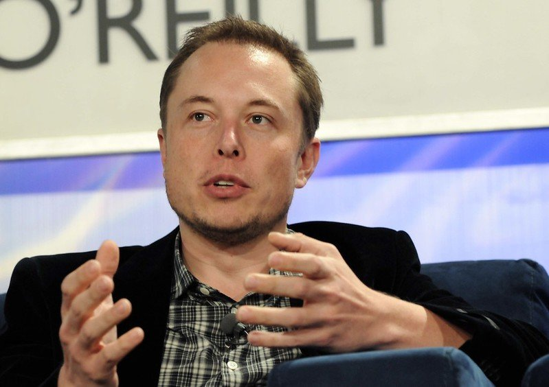 Elon Musk having a discussion.